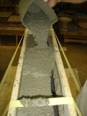 fluid concrete countertop mix