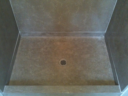 Attractive Shower Pan Installed