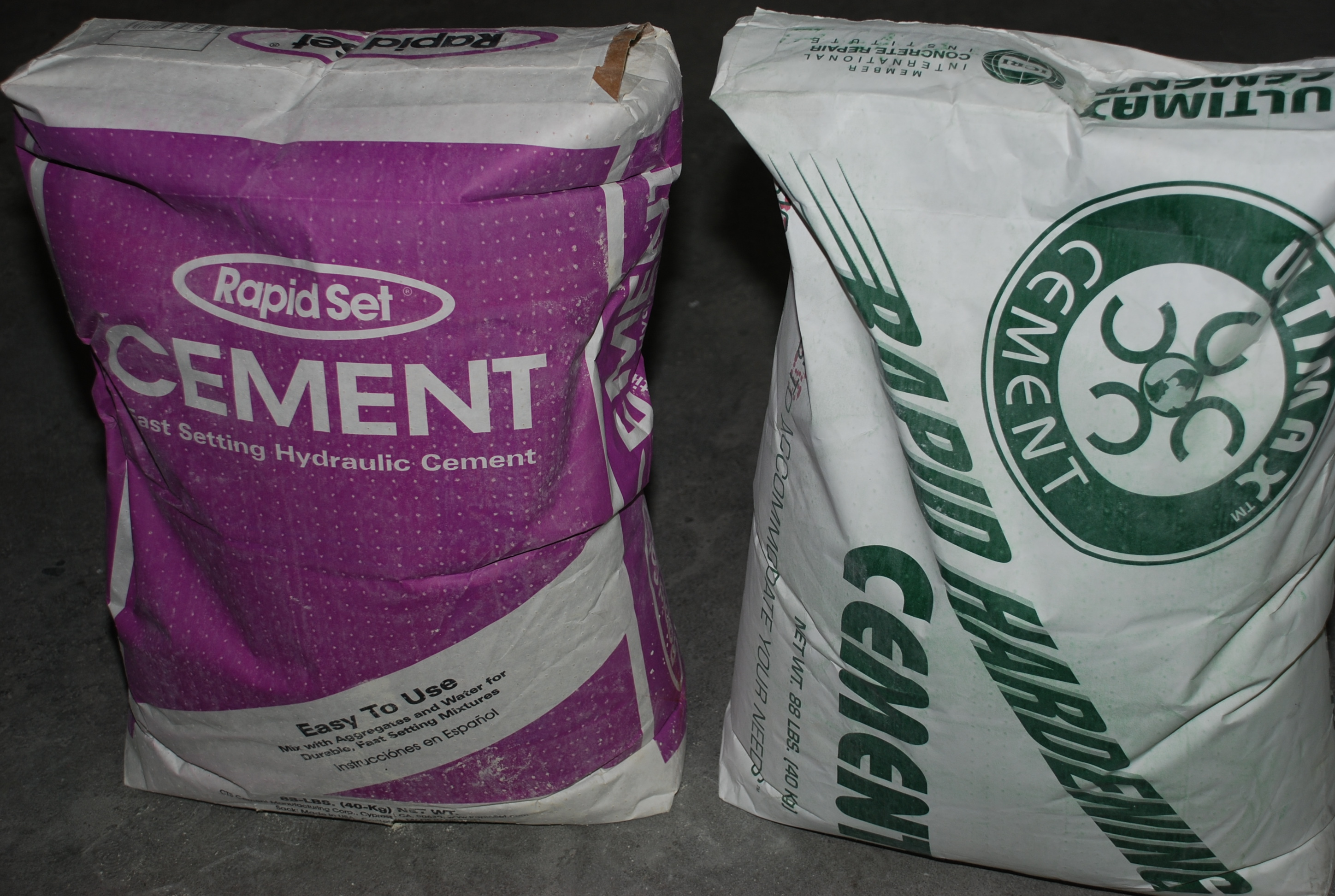 Rapid Set and Ultimax CSA cement products