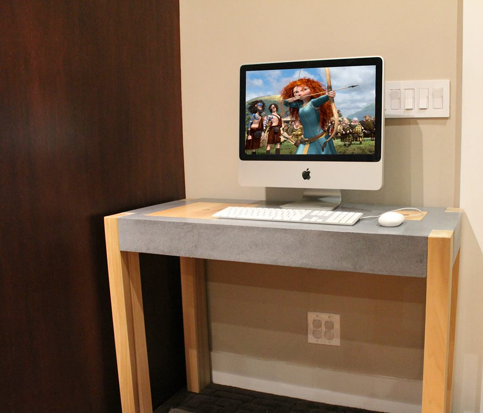 Child's Computer Desk created by Lawrence Missakian of Stone Cold Concrete