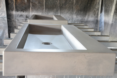 concrete sink basin
