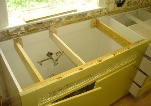 brackets for undermount sink