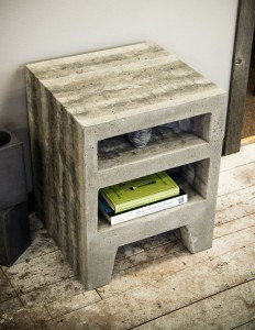 Concrete doesn't just make amazing countertops; this side table is pretty special too.