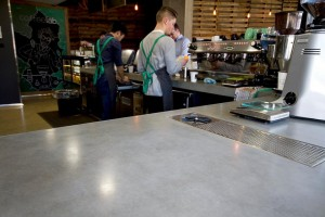 This large countertop is just one of the many pieces required for this huge installation.