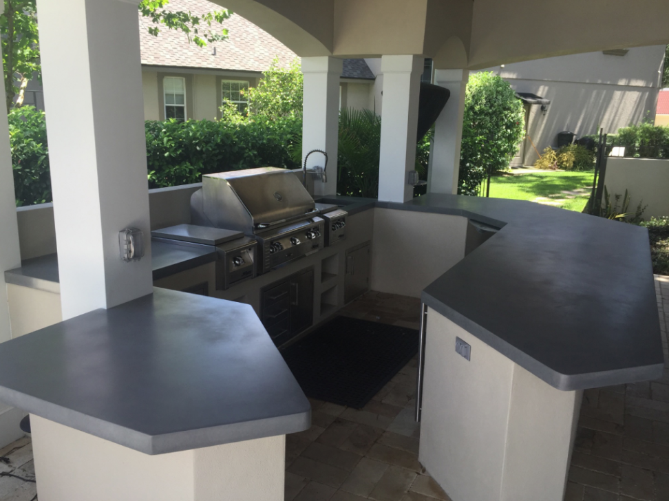 Outdoor Grill Countertops. Caleb Lawson Of Price Concrete ...