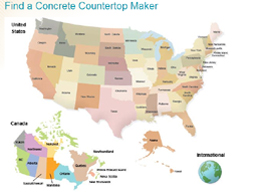 Find a concrete countertop maker
