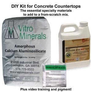 DIY concrete countertop supplies kit
