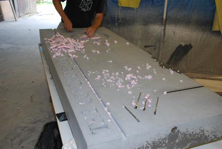 Removing foam