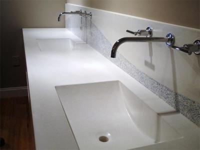 Integral Sinks Concrete Countertops Blog Integrated Bathroom Sink Countertop