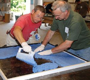 casting fluid concrete countertop mix