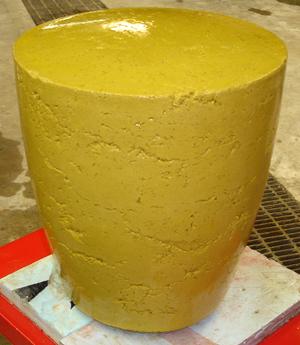 pressed concrete stool