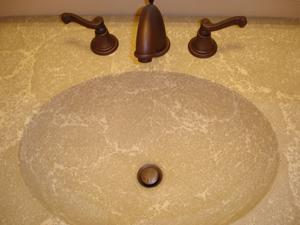 variegated integral sink concrete countertop