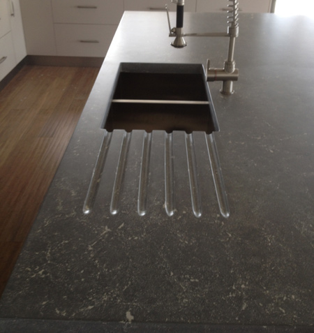 concrete kitchen island dra