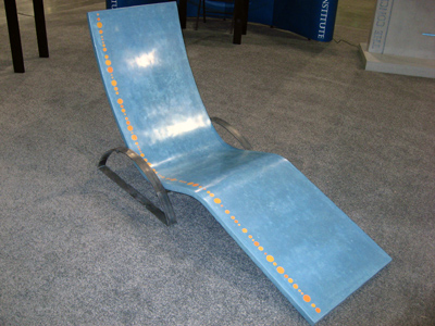 concrete lounge chair at show
