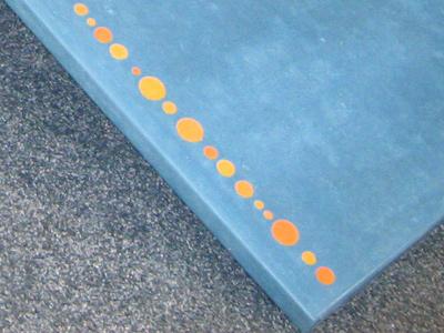 concrete lounge chair dots closeup