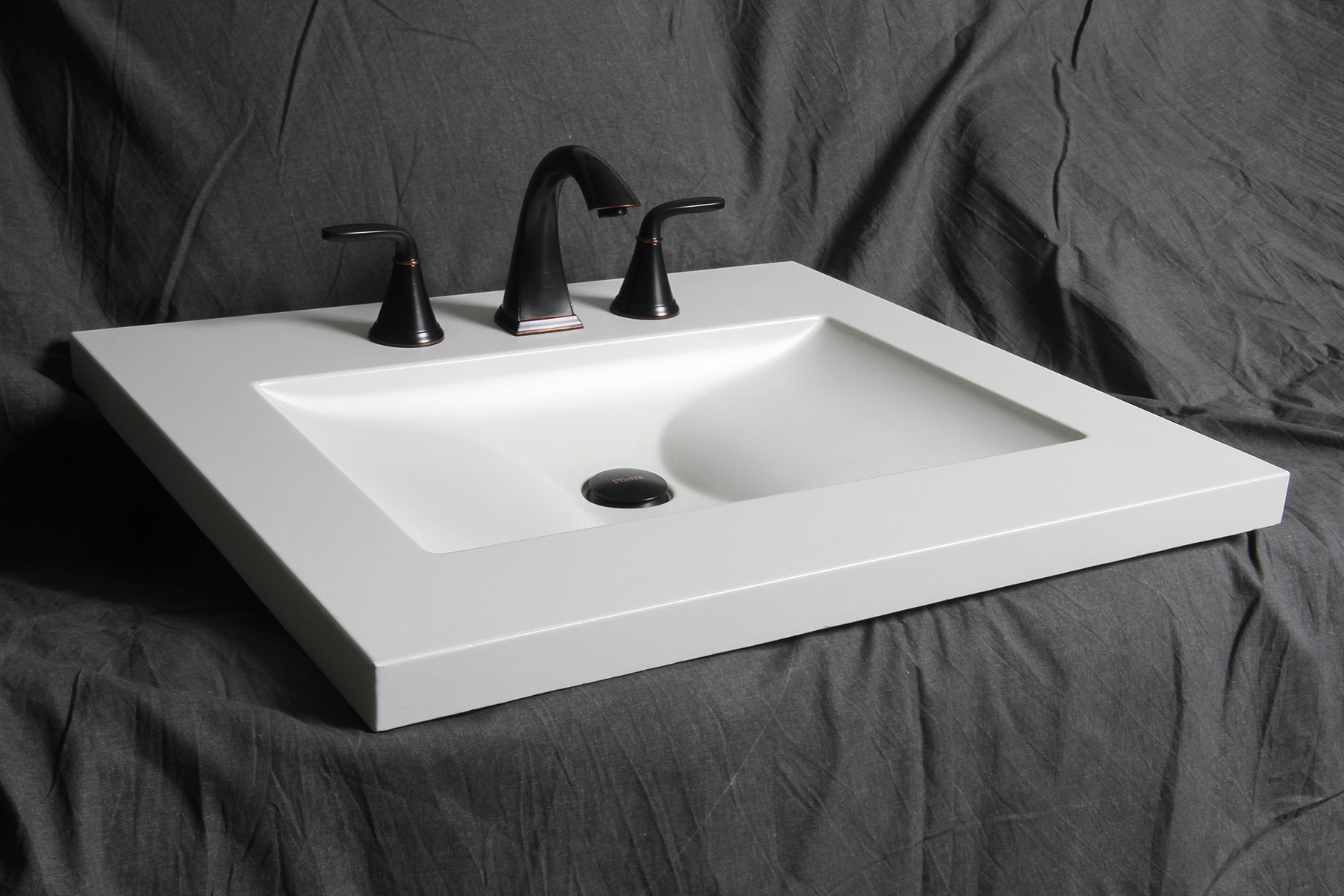 No one would ever guess this stunning sink was concrete if you didn't tell them.
