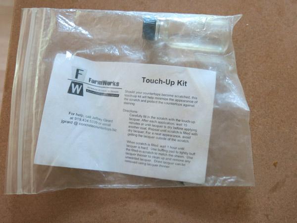 touchup kit closeup