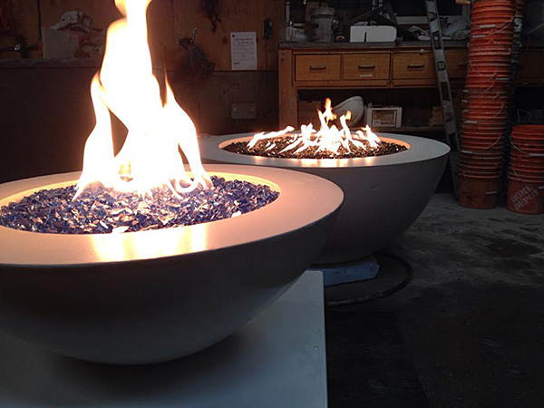 Fire table by Diamond Finish Concrete Countertops