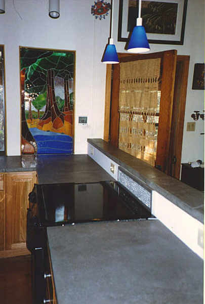 Jeff Girard first concrete countertop for paying customer