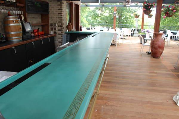 rock solid concrete artisans bartop taverna agora