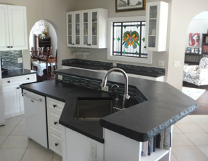 ArtHouse Custom Concrete kitchen