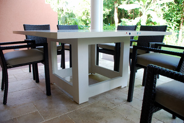 concrete table with cube base Cayman Islands