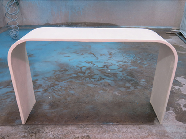 curved concrete bench GFRC