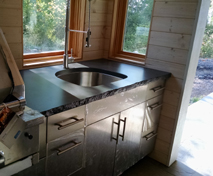 outdoor kitchen concrete countertop polished concreteworks olympia WA