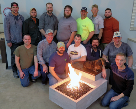 concrete training fire pit