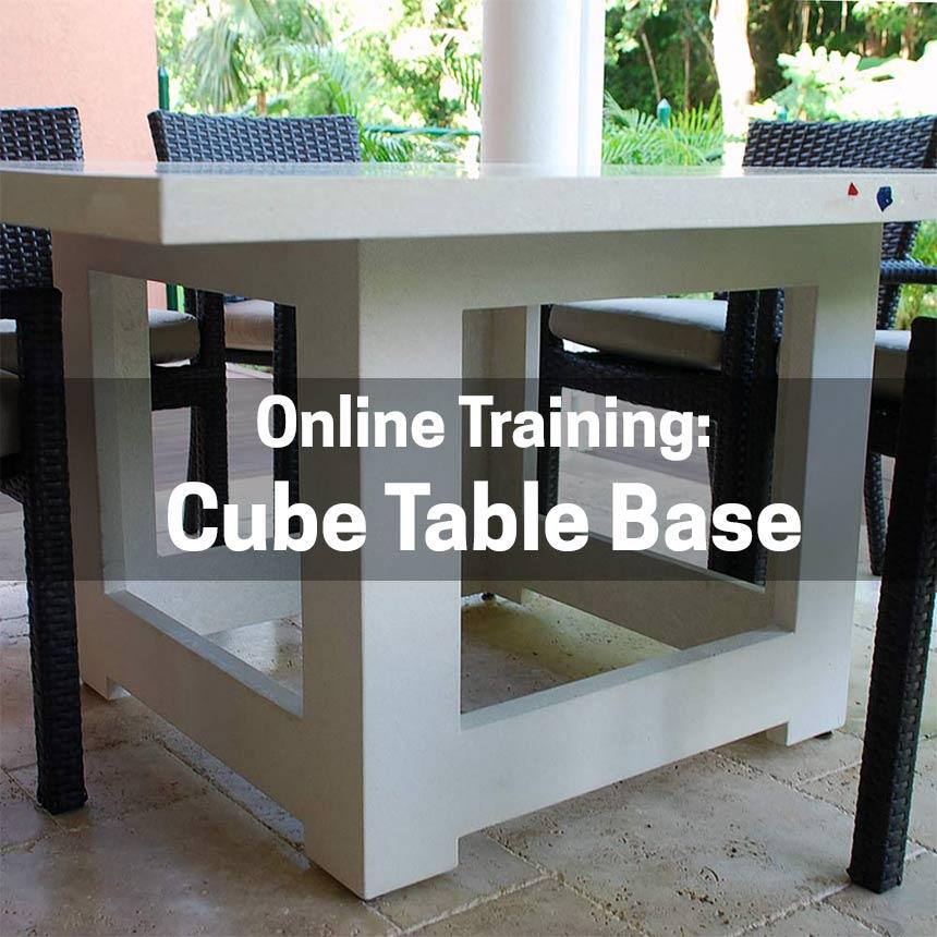 GFRC Cube Concrete Table Base