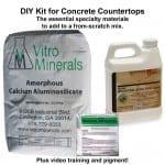 DIY concrete countertop supplies kit